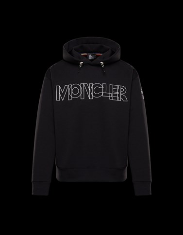 HOODED SWEATSHIRT Black New in Man
