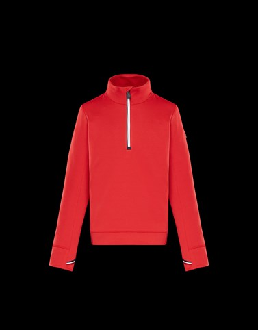ZIPPED MOCK POLO NECK Red Grenoble_teen-12-14-years-boy Man