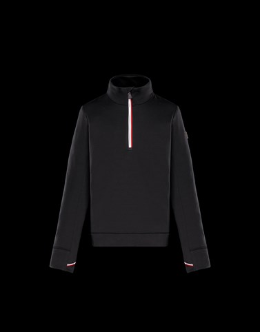 ZIPPED MOCK POLO NECK Black Category High necks Man
