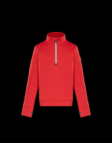 ZIPPED MOCK POLO NECK Red Grenoble_junior-8-10-years-boy Man
