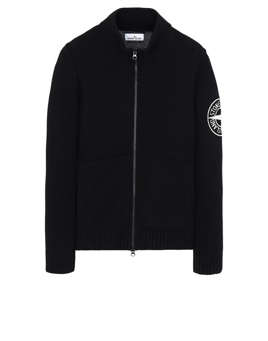 STONE ISLAND 593C7 Sweater Man Black