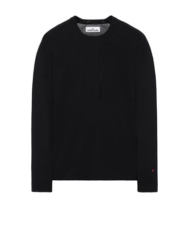 STONE ISLAND 570XA STONE ISLAND MARINA<br>TECHNICAL COTTON / NYLON YARN_THERMO-REGULATOR  Sweater Man Black EUR 399