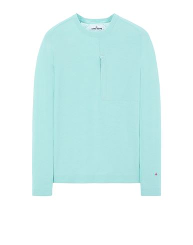 STONE ISLAND 570XA STONE ISLAND MARINA<br>TECHNICAL COTTON / NYLON YARN_THERMO-REGULATOR  Sweater Man Aqua EUR 399