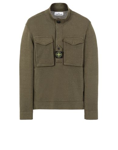 STONE ISLAND 542D4 Sweater Man Olive Green EUR 593