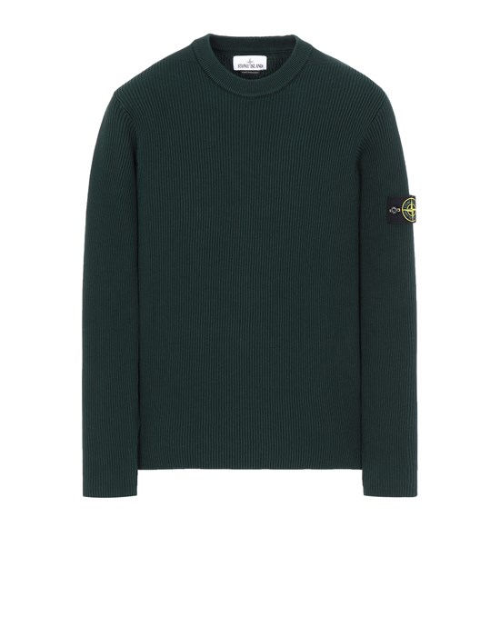 STONE ISLAND 552D8 Sweater Man Dark Teal Green