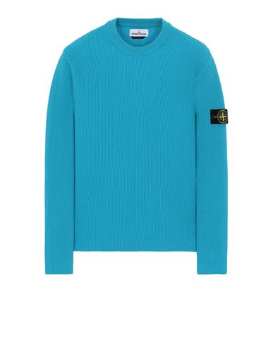 STONE ISLAND 552D8 Sweater Man Turquoise USD 296