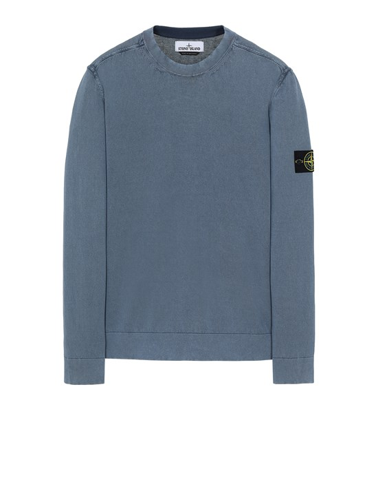 Sweater Man 554D9 WHITE FROST TREATMENT Front STONE ISLAND