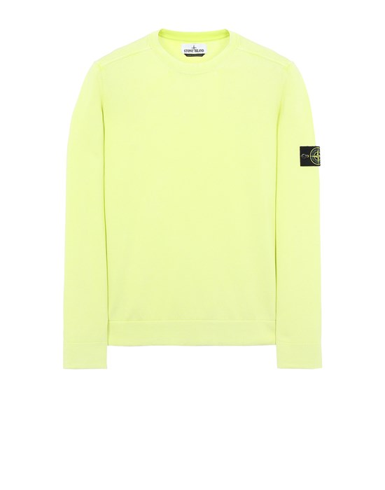 Sweater Herr 554D9 WHITE FROST BEHANDLUNG Front STONE ISLAND