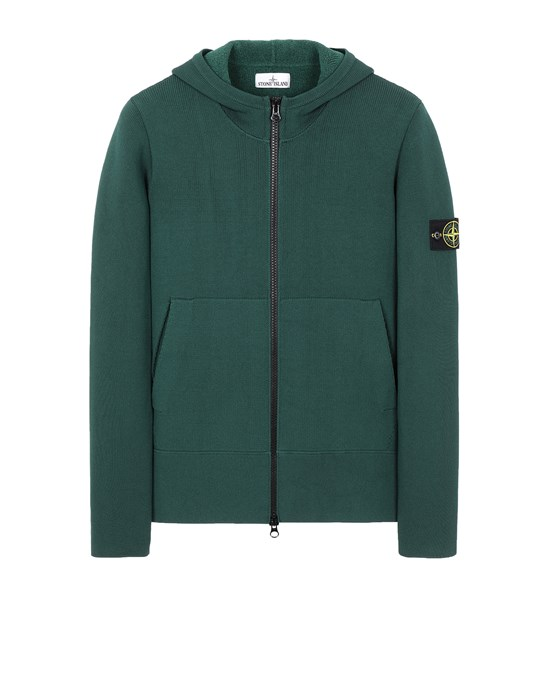 STONE ISLAND 556B3 Sweater Man Dark Teal Green