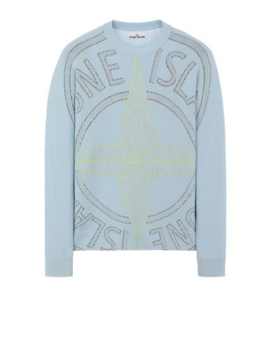 STONE ISLAND 514D1 Sweater Man Sky Blue EUR 495