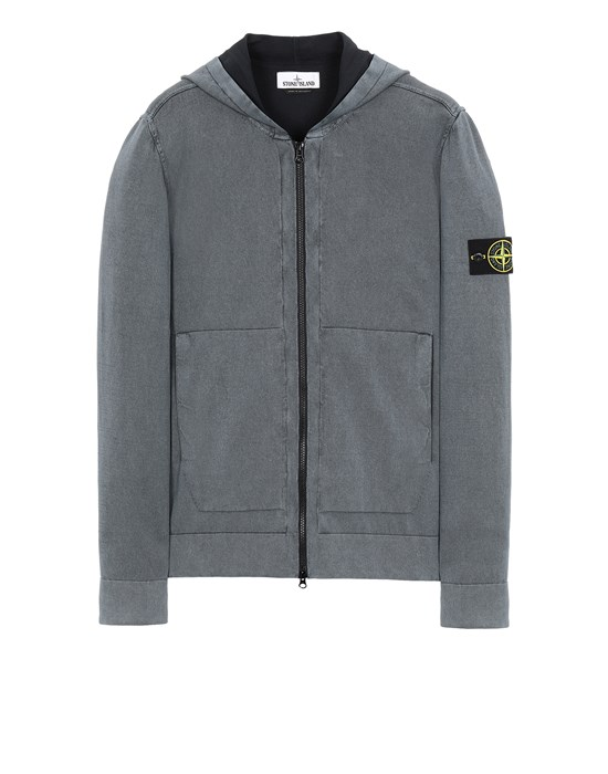 STONE ISLAND 553D9 WHITE FROST TREATMENT   Sweater Man Black