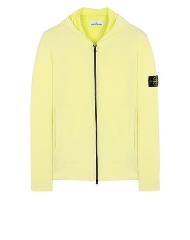 STONE ISLAND 553D9 WHITE FROST TREATMENT   Sweater Man Pistachio Green USD 395