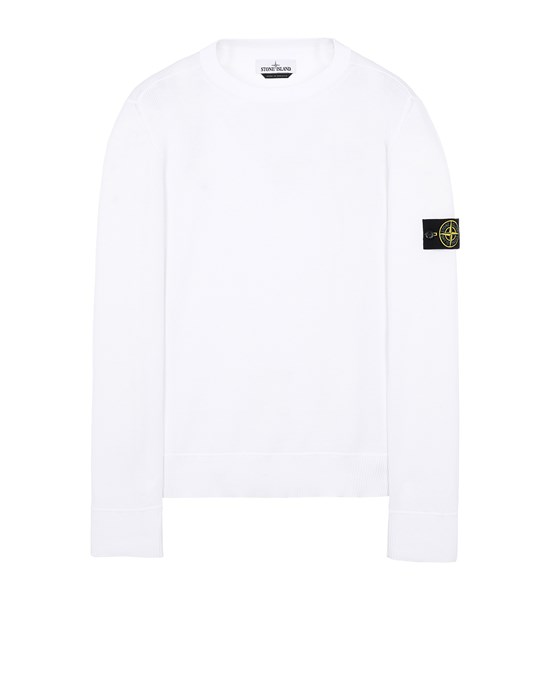 STONE ISLAND 504B2 Sweater Man White