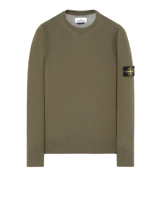 STONE ISLAND 504B2 Sweater Herr Olivgrün