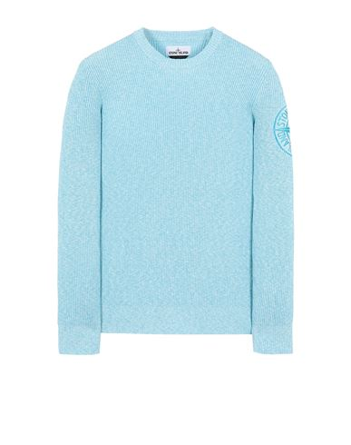 STONE ISLAND 507B1 Sweater Man Turquoise USD 324