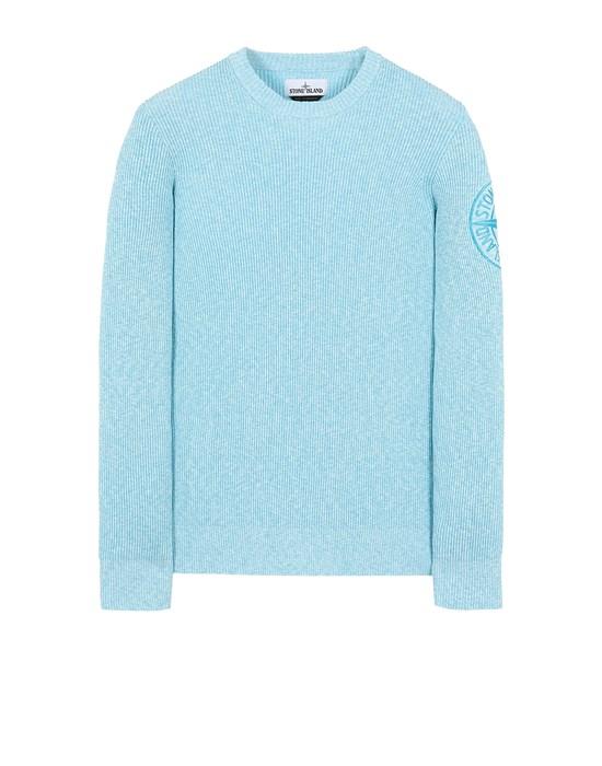 STONE ISLAND 507B1 Sweater Man Turquoise