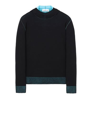 STONE ISLAND 521B5 REVERSIBLE KNIT Sweater Man Black EUR 455