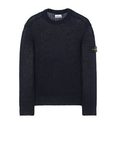 STONE ISLAND 555D5 Sweater Man Avio Blue USD 526