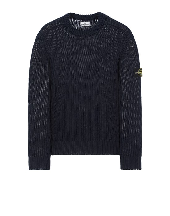 STONE ISLAND 555D5 Sweater Man Avio Blue