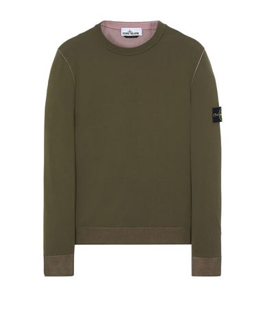 STONE ISLAND 522B5 REVERSIBLE  KNIT Sweater Man Olive Green EUR 335