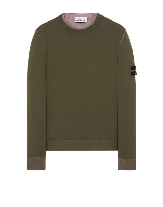 STONE ISLAND 522B5 REVERSIBLE  KNIT Sweater Man Olive Green