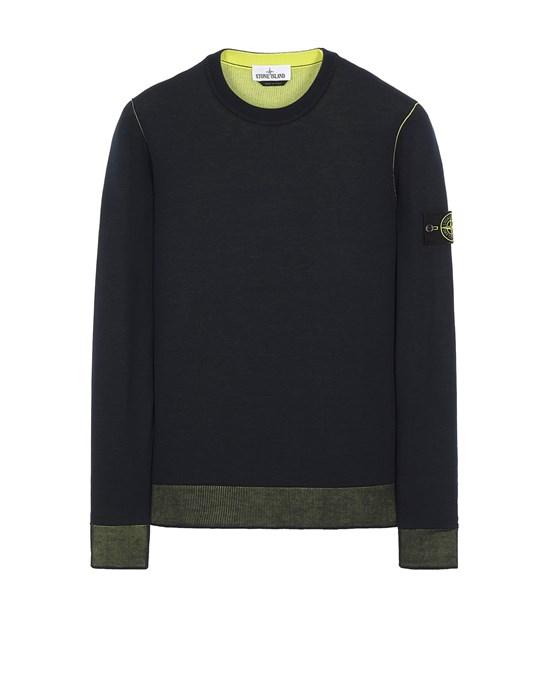 STONE ISLAND 522B5 REVERSIBLE  KNIT Sweater Man Blue