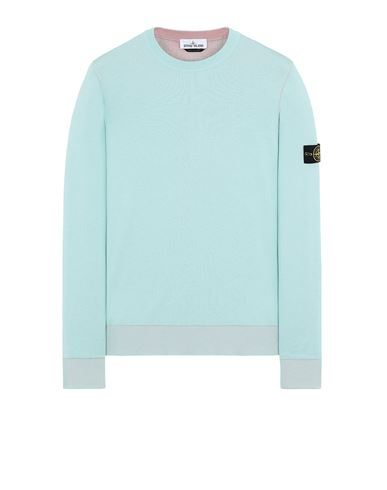 STONE ISLAND 522B5 REVERSIBLE  KNIT Sweater Man Aqua EUR 255