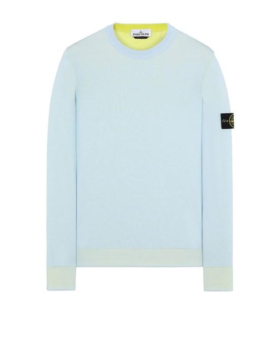 STONE ISLAND 522B5 REVERSIBLE  KNIT Sweater Man Sky Blue