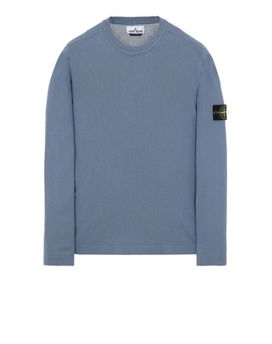 STONE ISLAND 532B9 Sweater Man Pastel Blue USD 266
