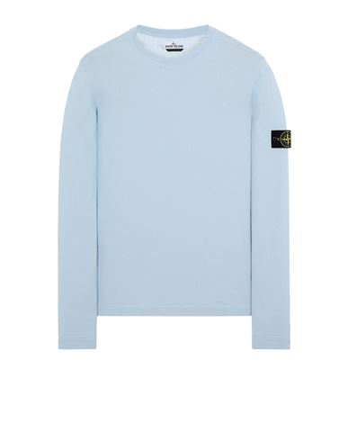 STONE ISLAND 532B9 Sweater Man Sky Blue EUR 202