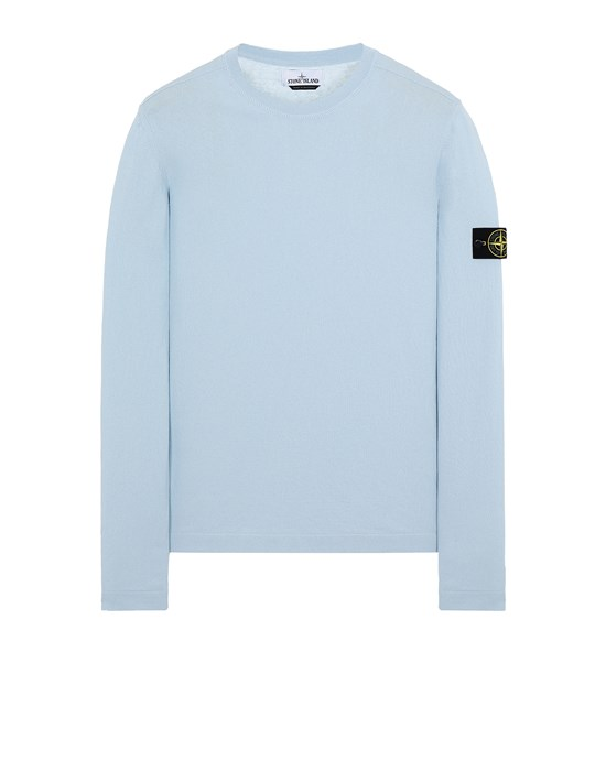 STONE ISLAND 532B9 Sweater Man Sky Blue