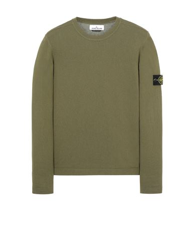 STONE ISLAND 532B9 Tricot Homme Vert olive EUR 229