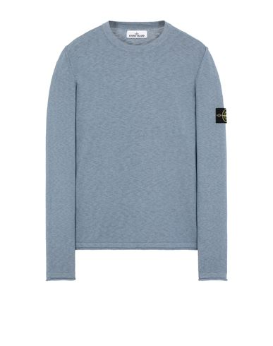 STONE ISLAND 502B0 Sweater Man Mid Blue EUR 239