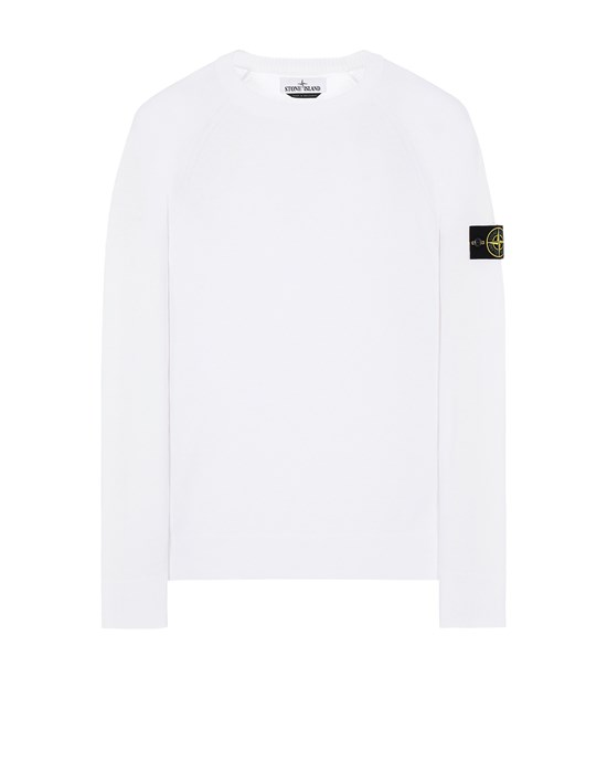 STONE ISLAND 511B9 Sweater Man White