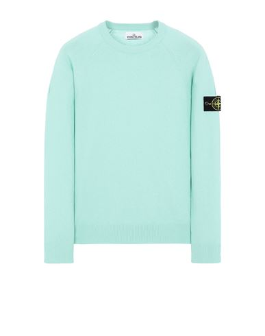 STONE ISLAND 511B9 Sweater Man Aqua USD 278