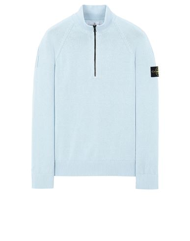 STONE ISLAND 510B9 Sweater Man Sky Blue EUR 237