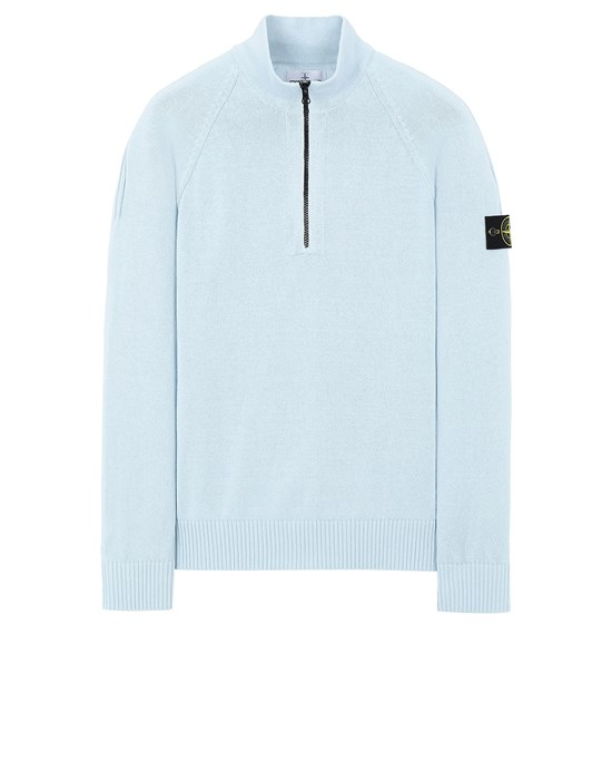 STONE ISLAND 510B9 Sweater Man Sky Blue