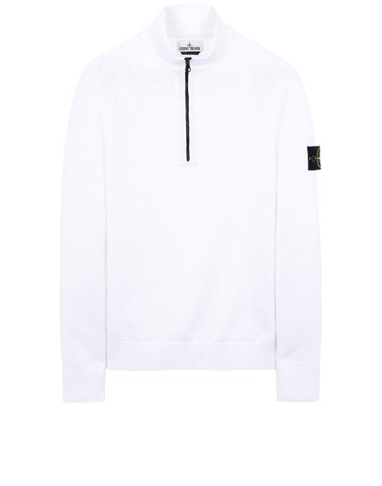 STONE ISLAND 510B9 Sweater Man White
