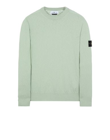 STONE ISLAND 524B0 Sweater Man Light Green EUR 256