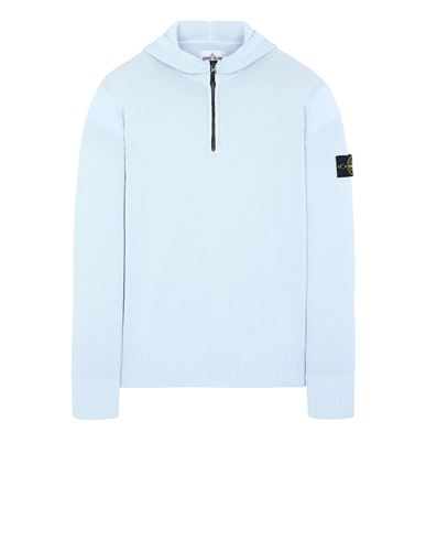 STONE ISLAND 530B6 Sweater Man Sky Blue EUR 349
