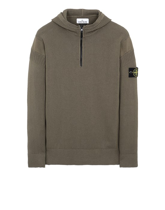 STONE ISLAND 530B6 Sweater Man Olive Green