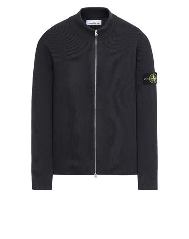 STONE ISLAND 549D8 Sweater Man Blue Grey EUR 335