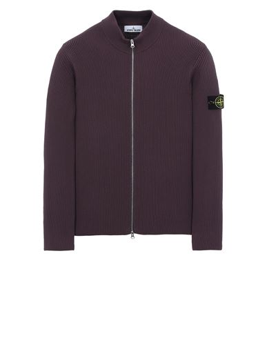 STONE ISLAND 549D8 Sweater Man Dark Burgundy USD 500