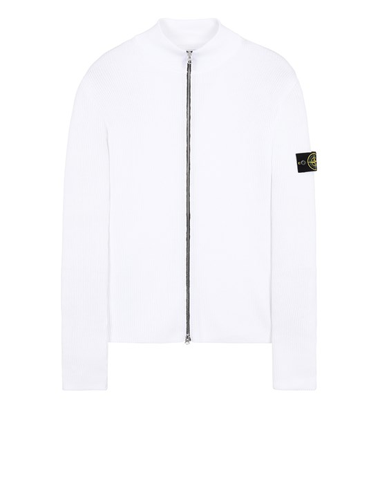 STONE ISLAND 549D8 Sweater Man White