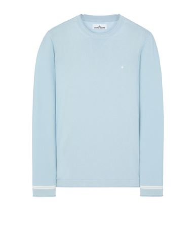 STONE ISLAND 527B2 Sweater Man Sky Blue EUR 182