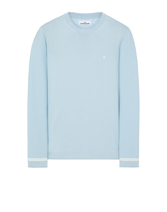 STONE ISLAND 527B2 Sweater Man Sky Blue