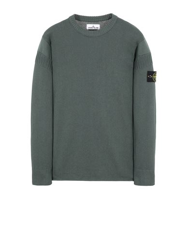 STONE ISLAND 509B6 Sweater Man Dark Teal Green USD 276
