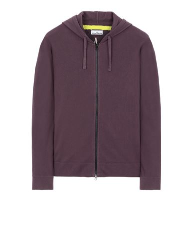 STONE ISLAND 535D1 Sweater Man Dark Burgundy EUR 569