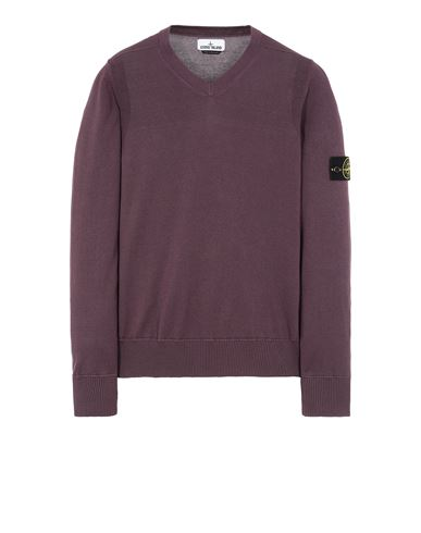 STONE ISLAND 533B2 Sweater Man Dark Burgundy EUR 174