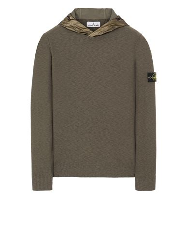 STONE ISLAND 545B0 Sweater Man Olive Green EUR 349